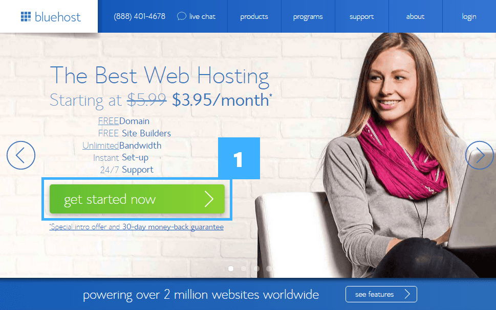 1 get started bluehost
