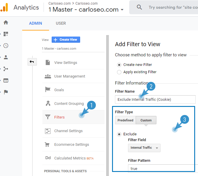 Filter for dynamic IPs in Google Analytics