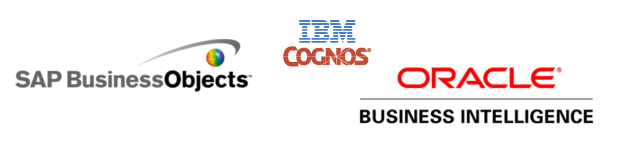 MicroStrategy Business Objects, Oracle, Cognos
