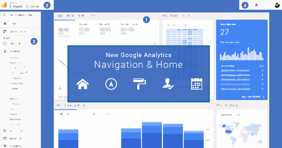 New Google Analytics Interface, Home and Navigation