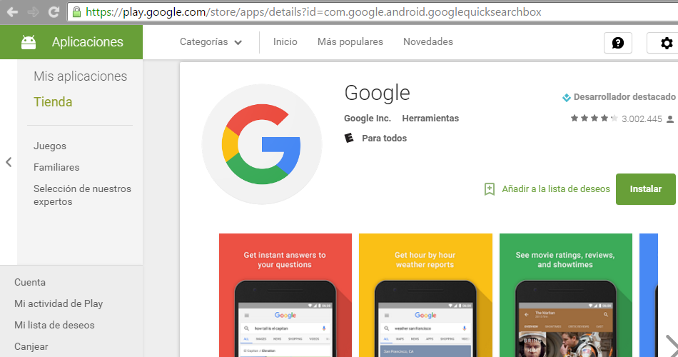 What is com google android googlequicksearchbox in Google