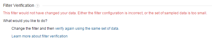This filter would not have changed your data. Either the filter configuration is incorrect, or the set of sampled data is too small.