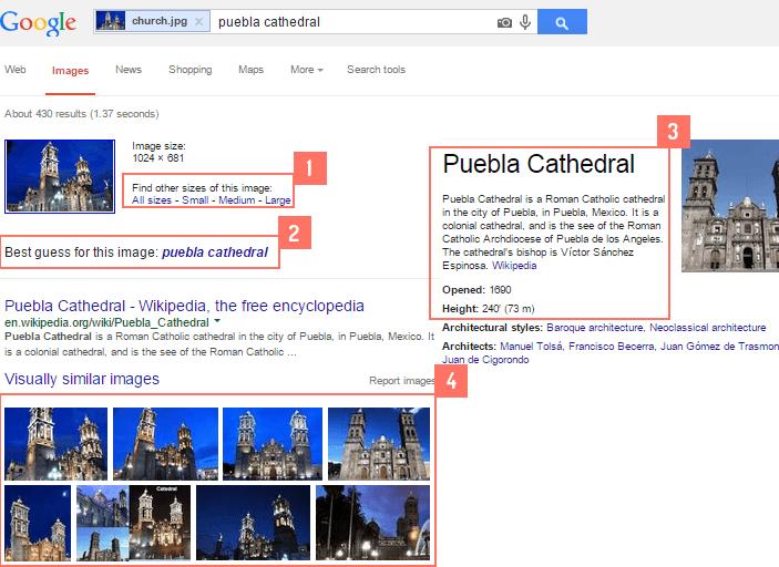 google search with images